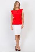 Красная блузка Emka Fashion b 2145/livana