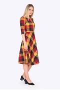 Женское платье в яркую клетку Emka PL407/jaffa