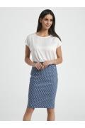 Летняя голубая юбка в белый горошек Ennywear 250089
