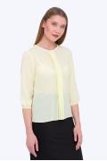 Светло-жёлтая полупрозрачная блузка Emka b 2170/maiza
