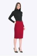 Красная офисная юбка Emka S662/barberry