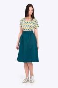 Расклешенная юбка на поясе Emka-Fashion 691/salvadora