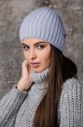 Голубая женская шапка из ангоры Gulyann Lone