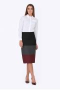 Трёхцветная юбка Emka Fashion 605-irina