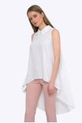 Лёгкая летняя блуза с асимметричным низом Emka B2246/anet