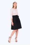 Повседневная юбка тёмно-синего цвета Emka Fashion 247/modesta