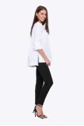 Белая блузка с разрезами по бокам Emka b 2210/amina