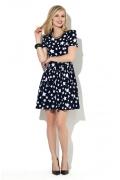 Тёмно-синее платье Donna Saggia DSP-65-27