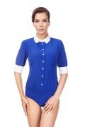 Блузка-боди с контрастным воротничком Viva La Donna Б01-3