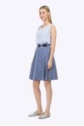 Расклешённая юбка в сине-белую полоску Emka S764/laggon