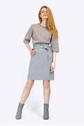 Прямая юбка с завышенной линией талии Emka S754/louren