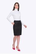Чёрная офисная юбка Emka 212/lenora (осень 2018)
