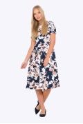 Летнее платье классического кроя Emka PL-683/zerin