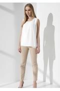 Летняя блузка молочного цвета Sunwear I37-2