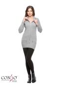Женский кардиган на молнии Conso Wear KWCL160715