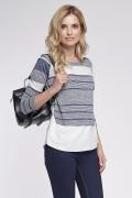 Сине-белая блузка простого кроя Sunwear O52-5-53