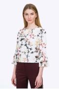 Блузка с плиссированными рукавами Emka B2295/hanna