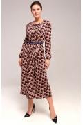 Длинное трикотажное платье TopDesign B7 187