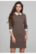 Платье из плотного трикотажа с воротником Donna Saggia DSP-291-39t