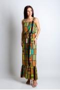 Длинное трикотажное платье TopDesin Premium PA4 03