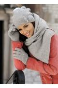 Женская шапка серого цвета Kamea Abella