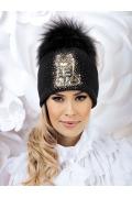 Женская шерстяная шапка с котом Willi Catina