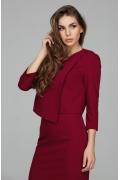 Асимметричная блузка вишневого цвета Donna Saggia DSB-45-67