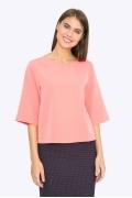 Блузка с молнией на спине Emka B2239/flamingo