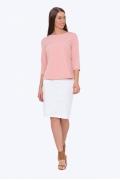 Белая юбка-карандаш на кокетке Emka 202-60/alveta