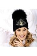 Женская шапка с вышивкой Волк Willi