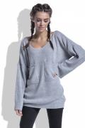 Женский свитер серого цвета Fobya F439