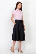 Тёмно-синяя юбка Emka Fashion 527-rishelye