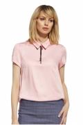 Офисная блузка розового цвета Enny 230094