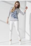 Блузка с длинным рукавом в полоску Sunwear I04-4-15