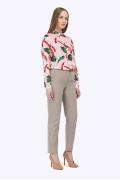 Классические бежевые брюки-дудочки Emka D095/myrrh