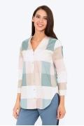 Женская рубашка в крупную клетку Emka b2218/izaura