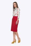 Красная юбка Emka S605/aglaya (коллекция 2018 года)
