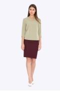 Классическая юбка-карандаш бордового цвета S663/shaherezada