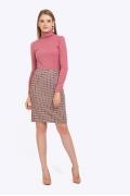 Прямая юбка-миди бежево-коричневого оттенка Emka S663/mimosa