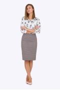 Офисная миди-юбка Emka Fashion 663-fendi