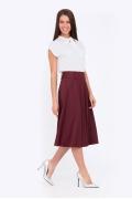 Расклешенная юбка бордового цвета Emka 505/alonsa