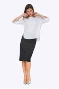 Блузка свободного кроя из легкого текстиля Emka B2277/araika