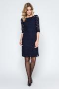 Кружевное платье тёмно-синего цвета Enny 240101