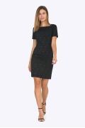 Жаккардовое платье чёрного цвета Emka PL422/fergie
