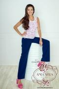 Розовый топ с белыми цветами Andovers 206638