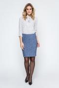Трикотажная юбка синего цвета Enny 240131