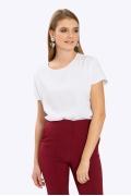 Женская блузка-бочонок белого цвета Emka B2378/araika