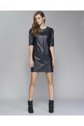 Кожаное чёрное платье Zaps Reda