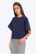 Тёмно-синяя блузка Emka B2202/elizavetta