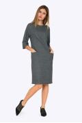 Женское приталенное платье с карманами Emka PL708/rovena